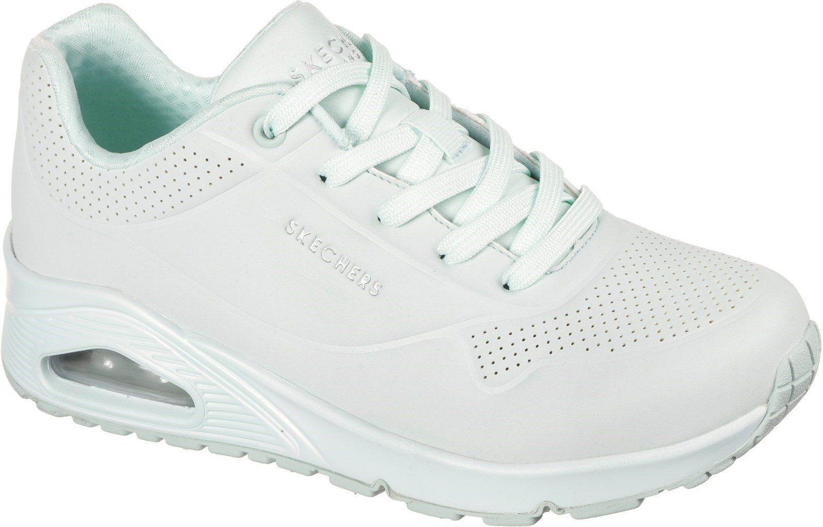 Skechers Women's Uno Frosty Kicks Sports Trainer Mint 32135 - Mint 3