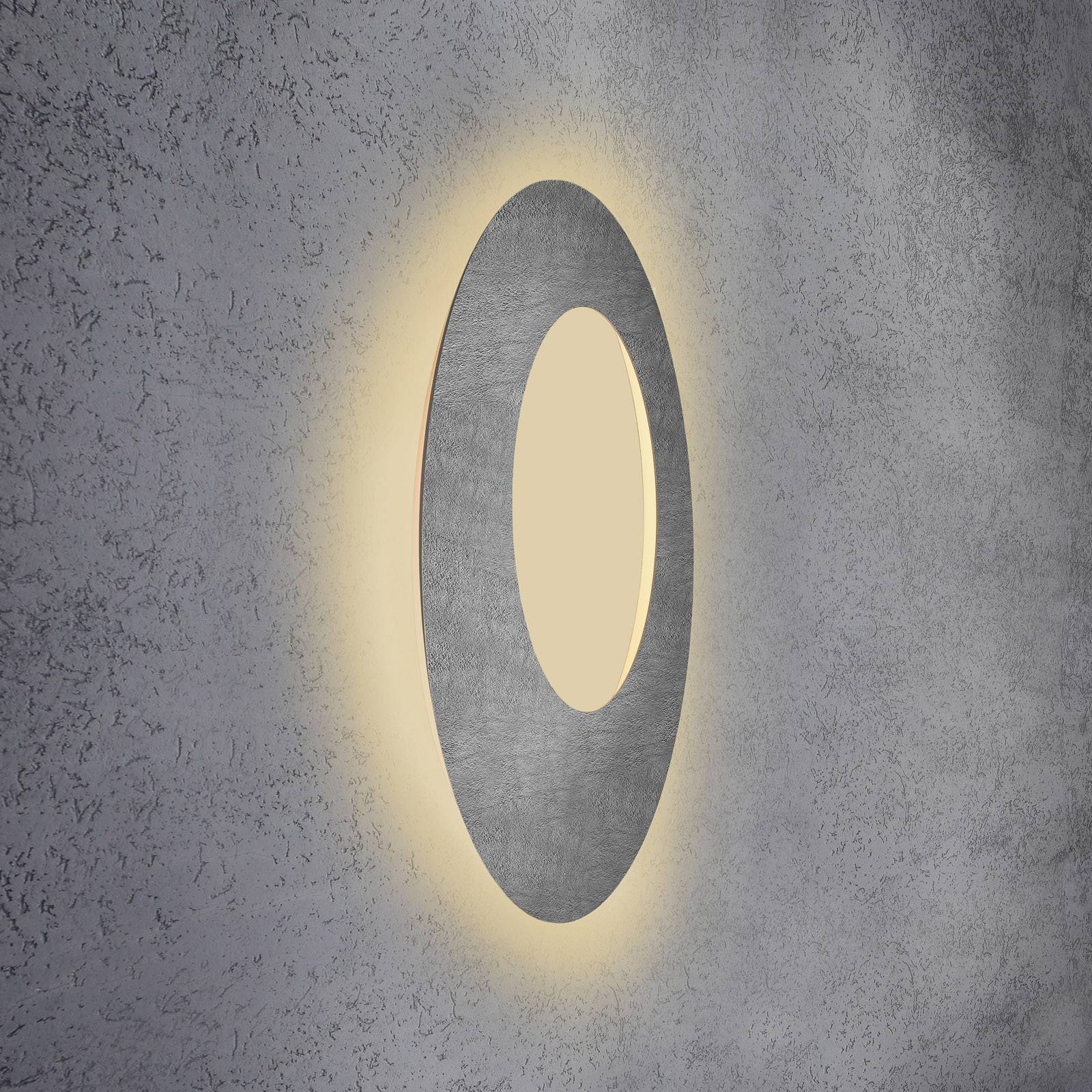 Escale Blade Open -LED-seinävalaisin betoni Ø79 cm
