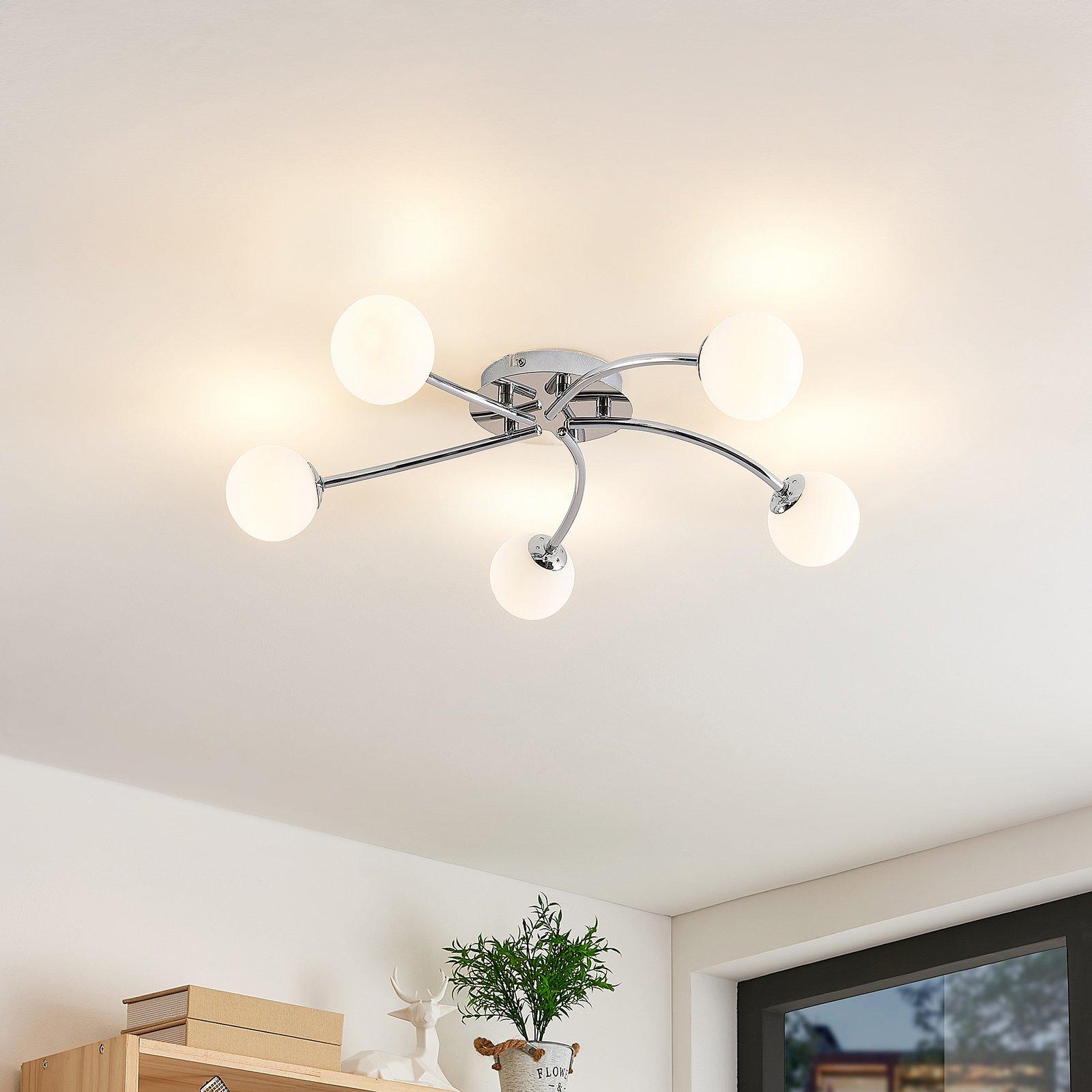 Lindby Chrissy taklampe, 5 lyskilder, 59 cm