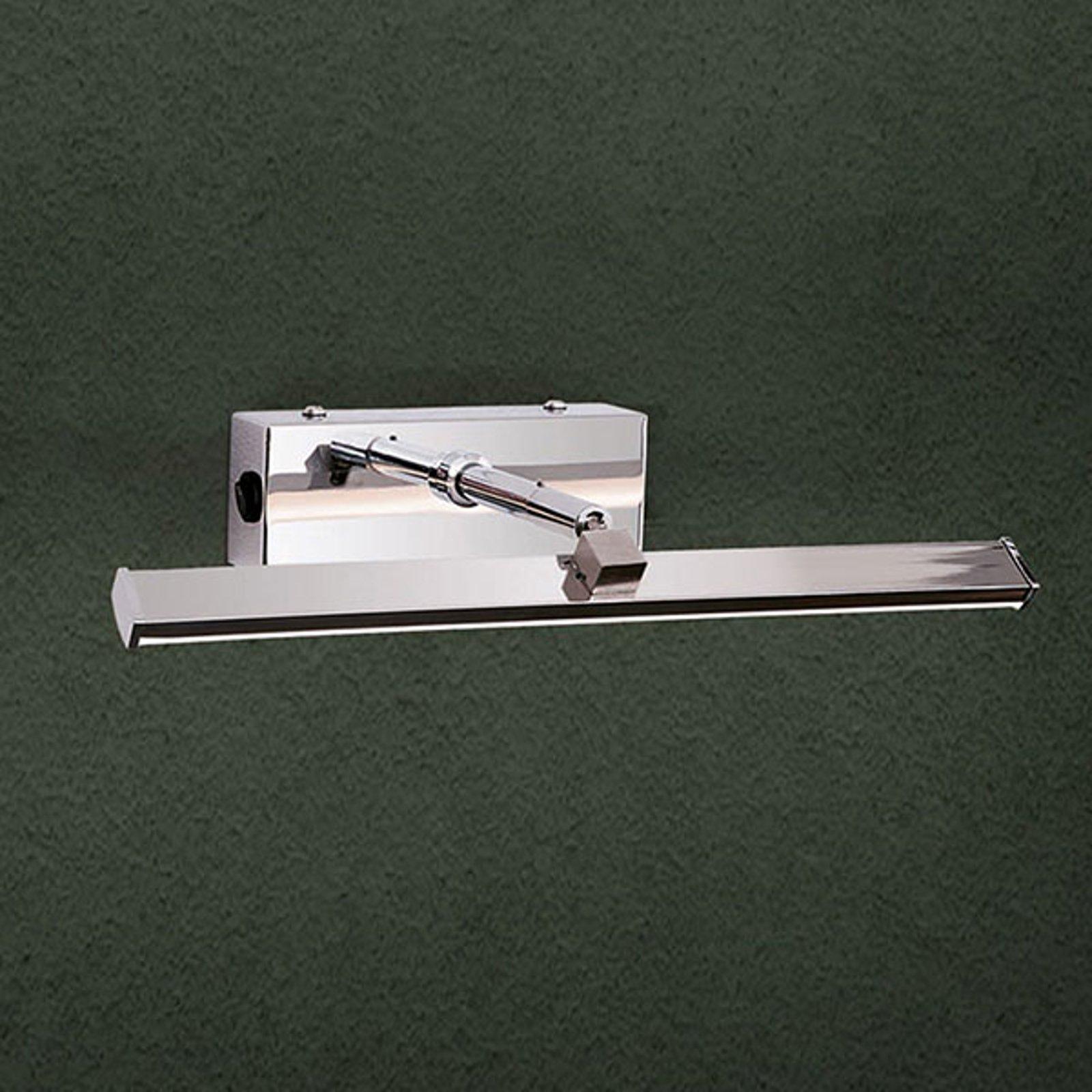 Kromfarget LED-bildelampe Suren, 30 cm