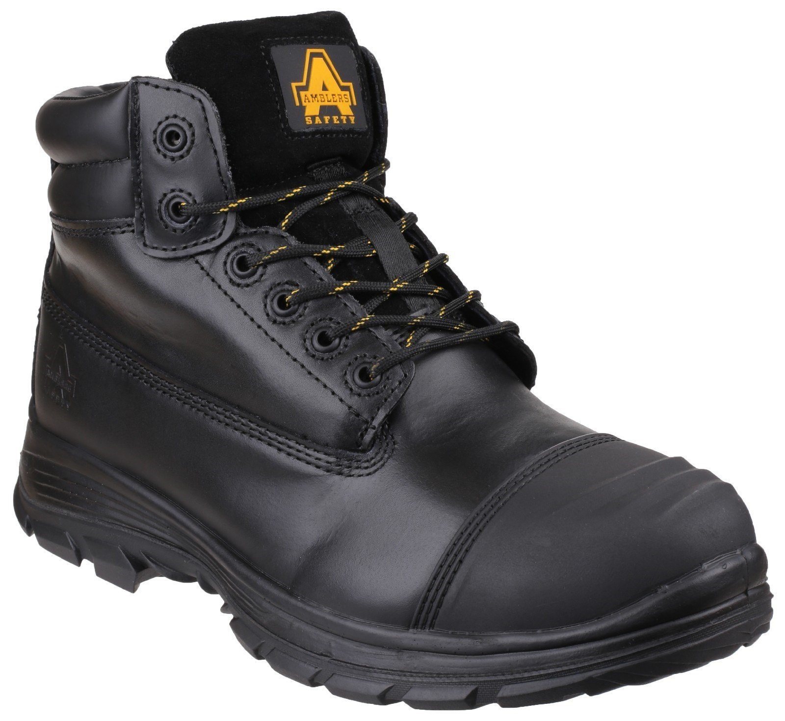 Amblers Unisex Safety Brecon Water Resistant Lace Up Boot Black 23743 - Black 6