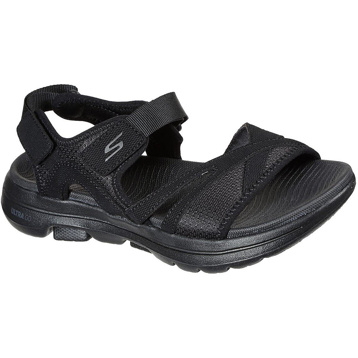 Skechers Women's Go Walk 5 Restored Summer Sandal Black 32155 - Black 8