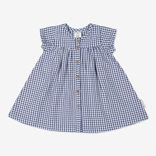 Rutet kjole baby blå