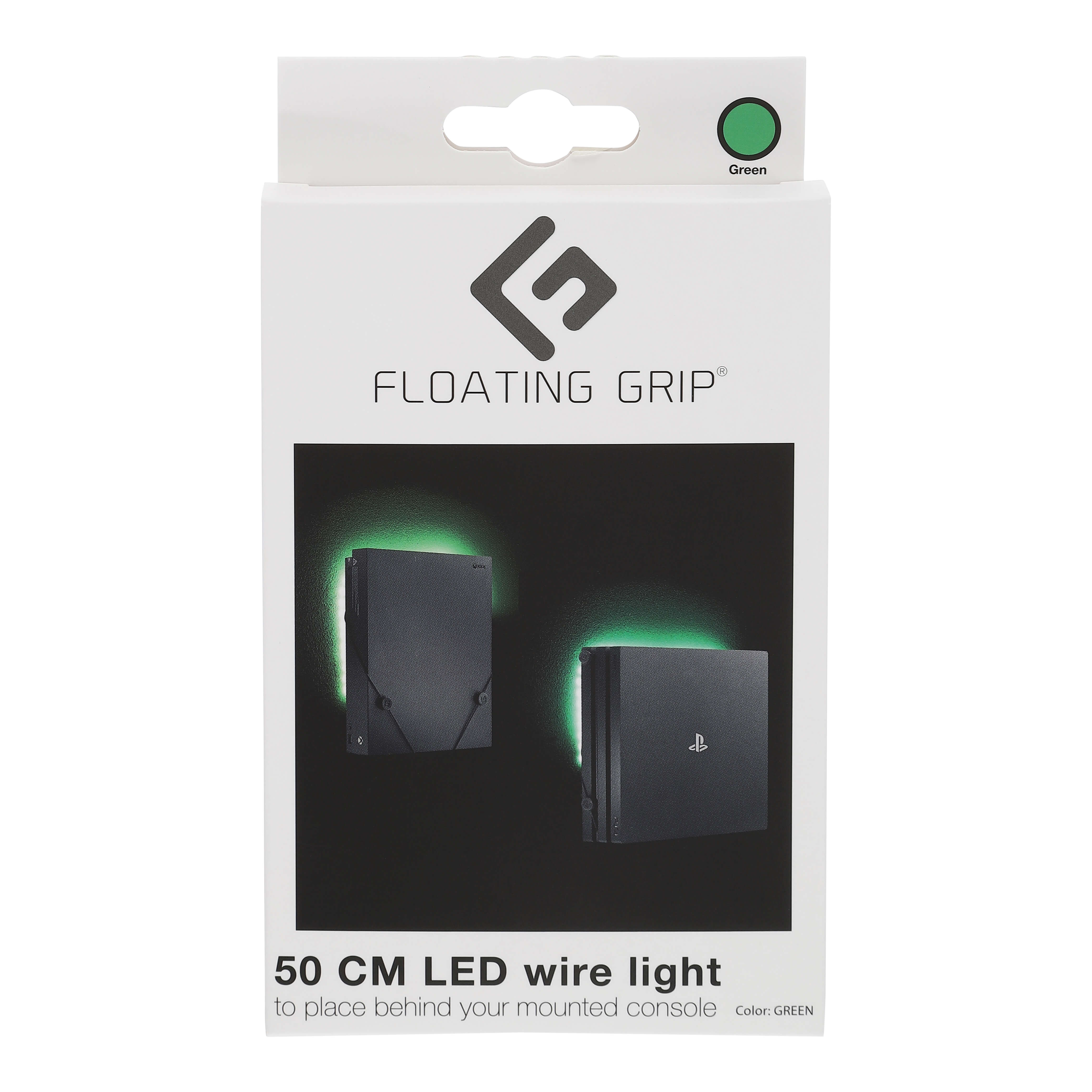 Floating Grip Led Wire Light with USB Green