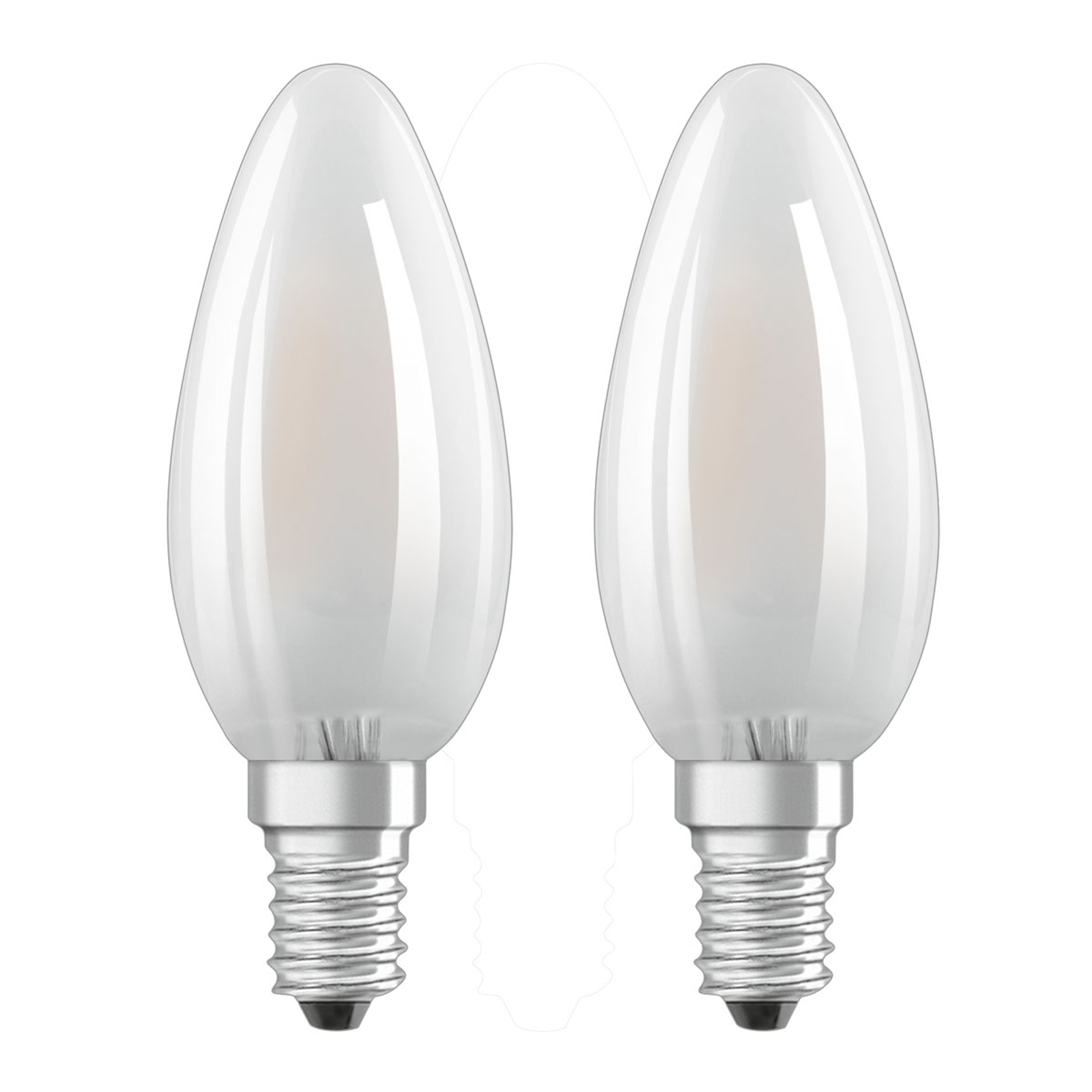 OSRAM-LED-kynttilälamppu E14 4W 2 kpl/pakkaus