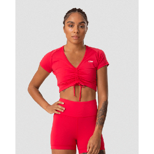 Scrunch T-shirt, Raspberry Red