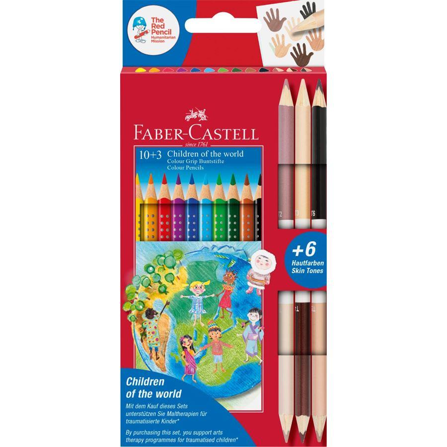 Faber-Castell - Colour Grip Children of the world pencil triangular 10+3 (201746)