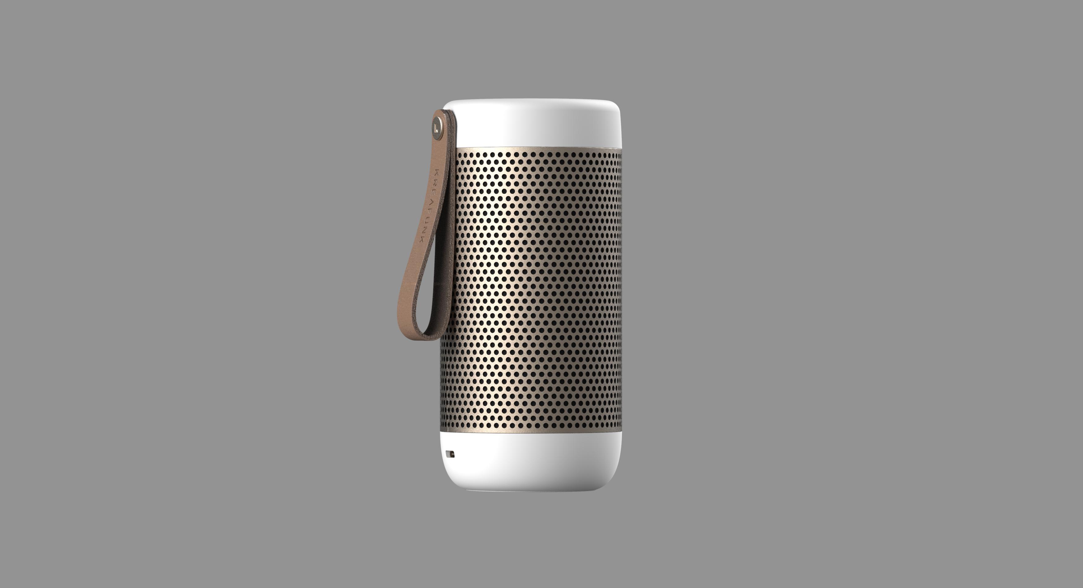 KreaFunk - aCOUSTIC Bluetooth Speaker - White (Kfwt41)