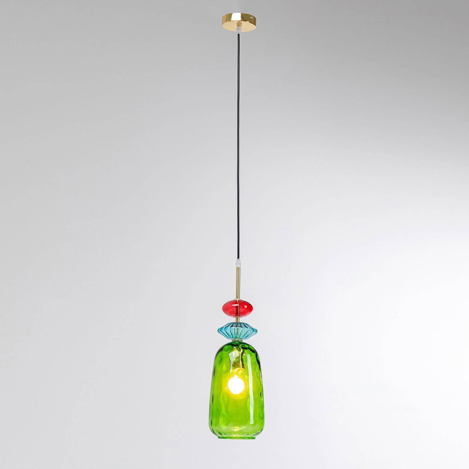 KARE Goblet Color hengelampe av glass, grønn
