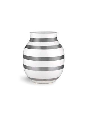 Omaggio Vase H20 sølv (15212)