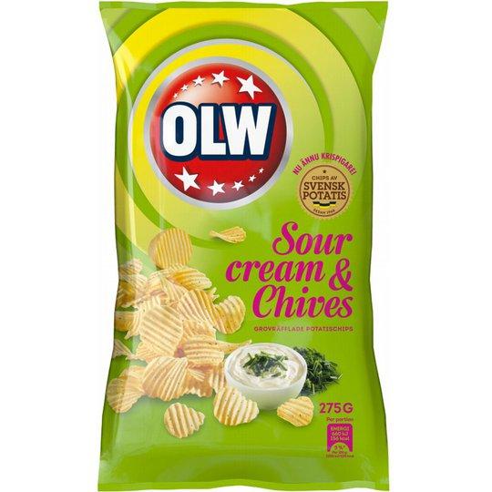 "Chips ""Sourcream & Chives"" 275g - 32% rabatt"