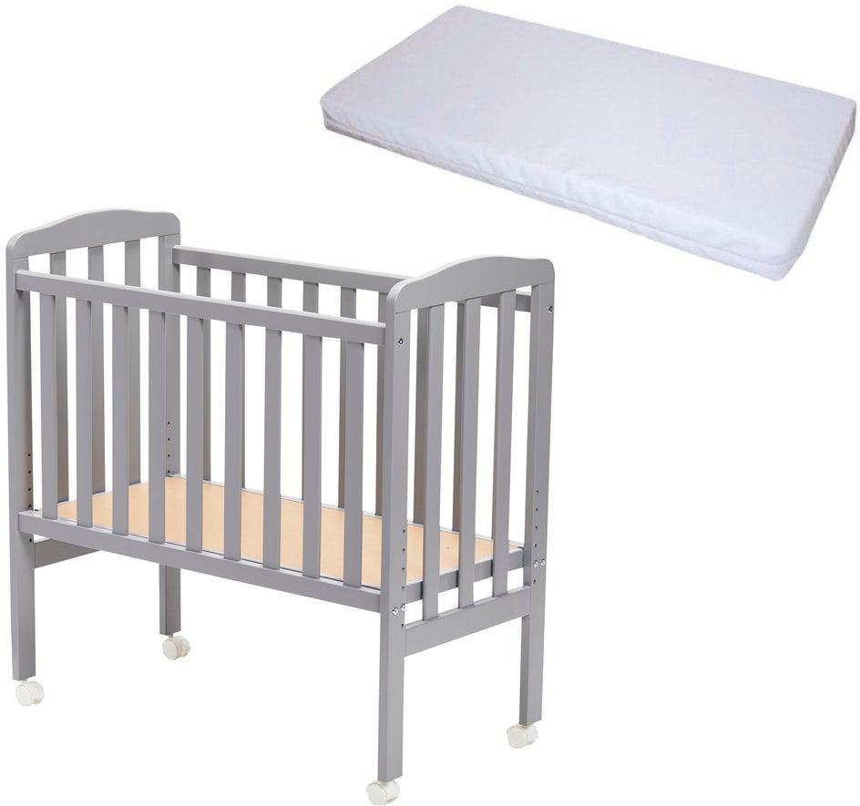 JLY Bedside Crib ja BabyDan Comfort Patja 40x84, Harmaa