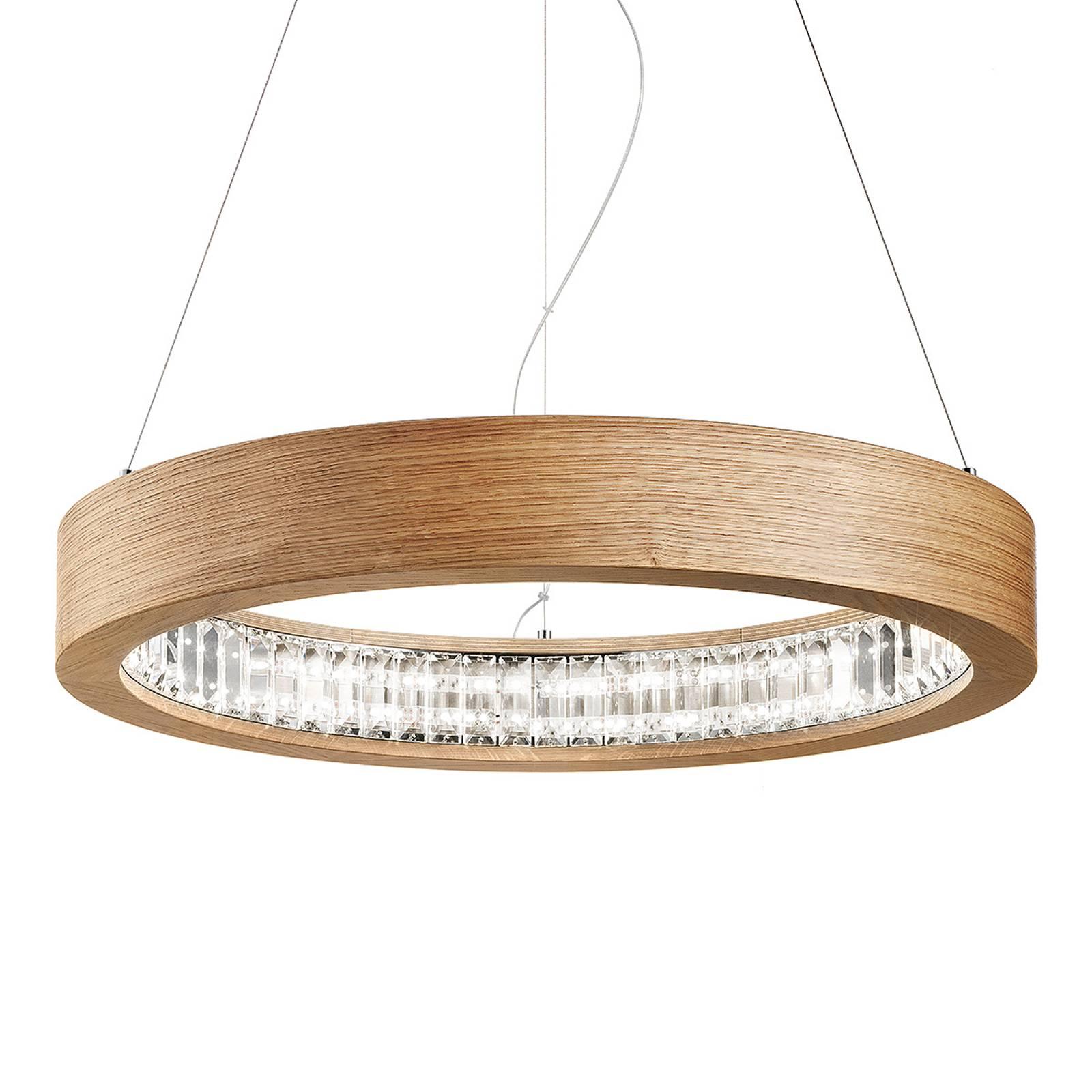 Pyöreä LED-riippuvalaisin Libe Round, 60 cm