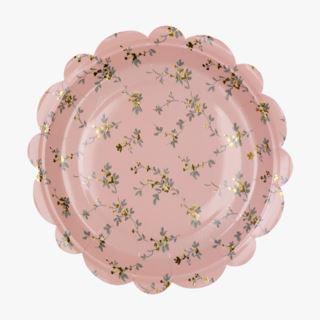 Beatrix pahvilautanen, 8 kpl roosa