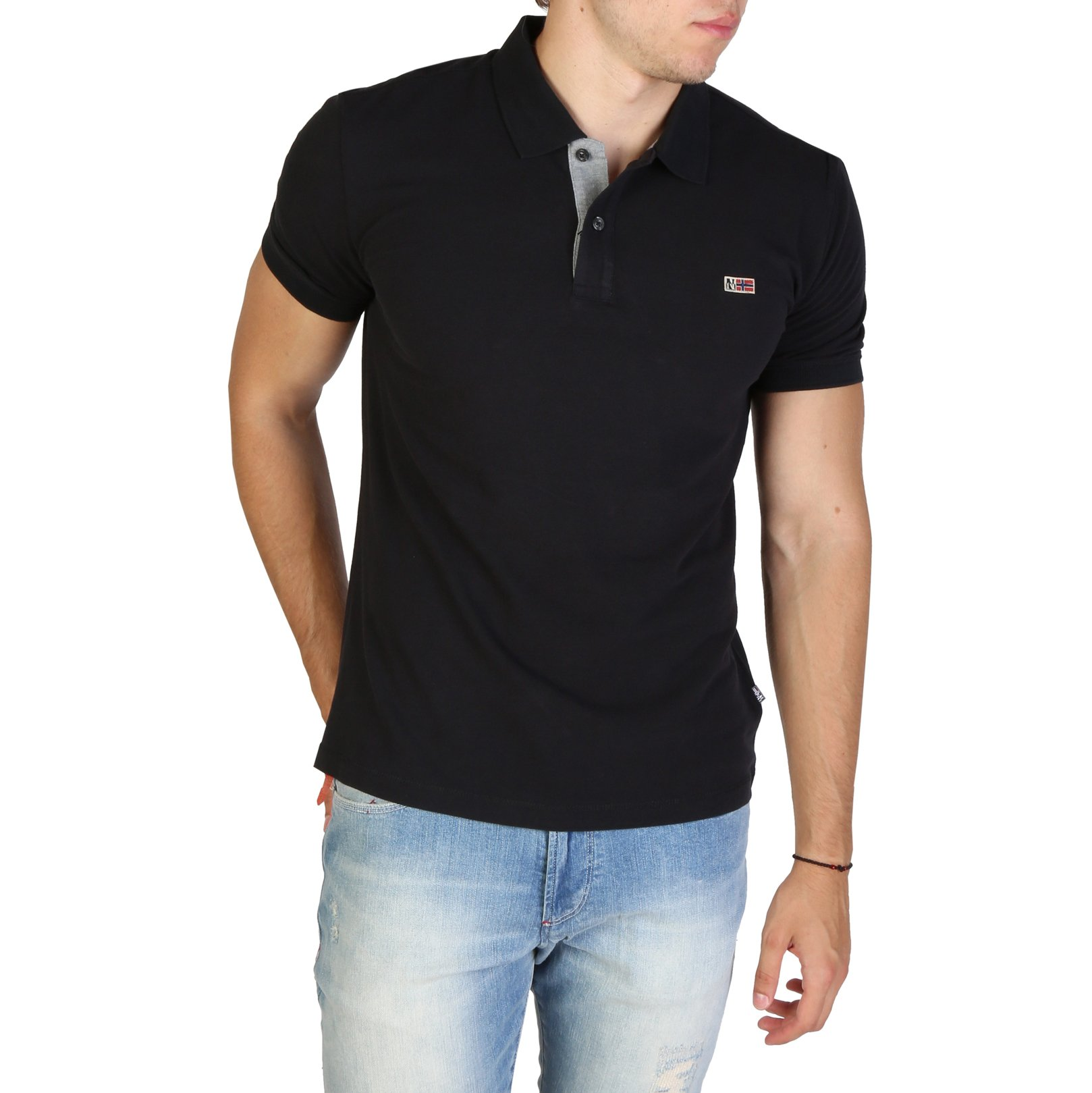 Napapijri Men's Polo Shirt Various Colours TALY3_NP0A4EGD - black S