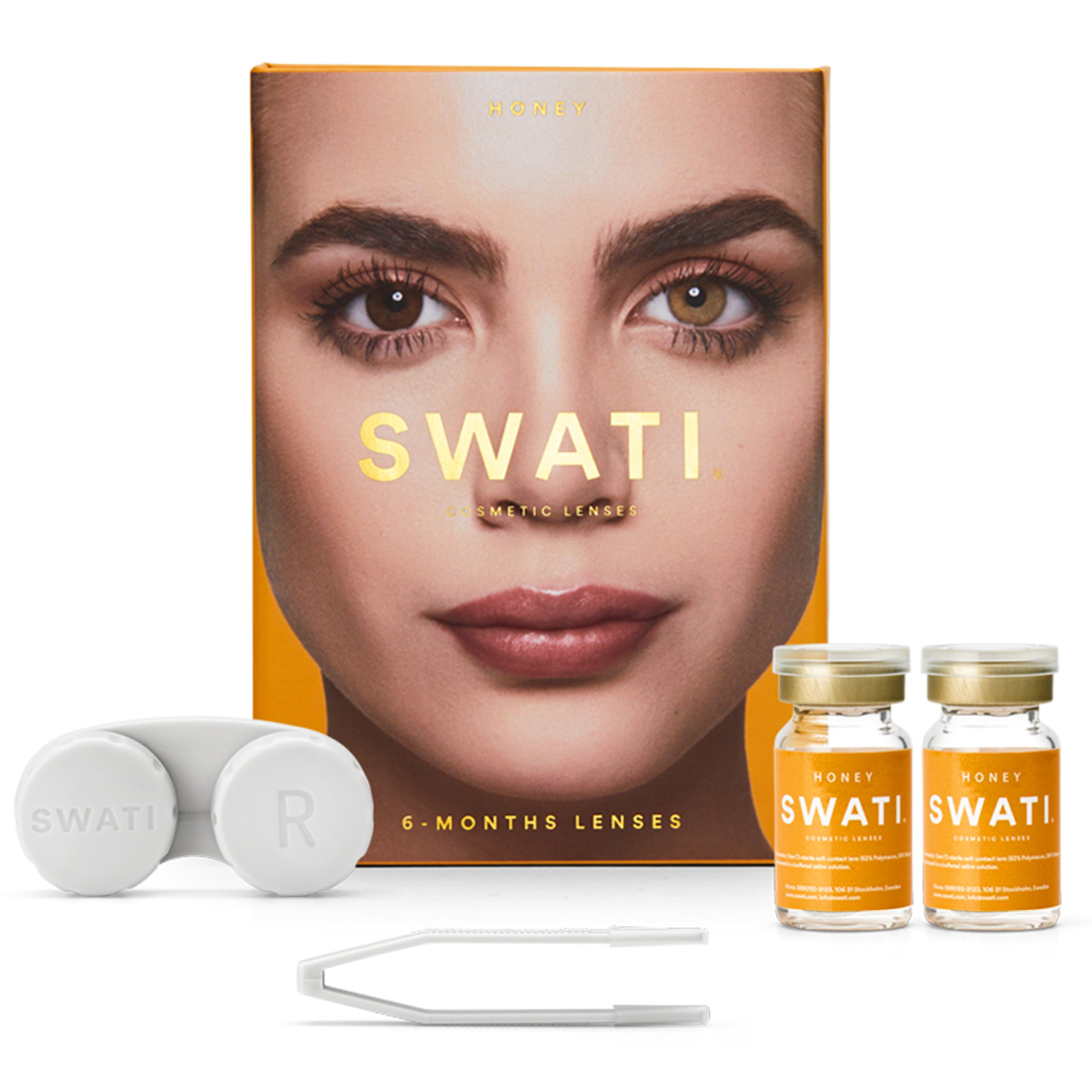 SWATI - Coloured Contact Lenses 6 Months - Honey