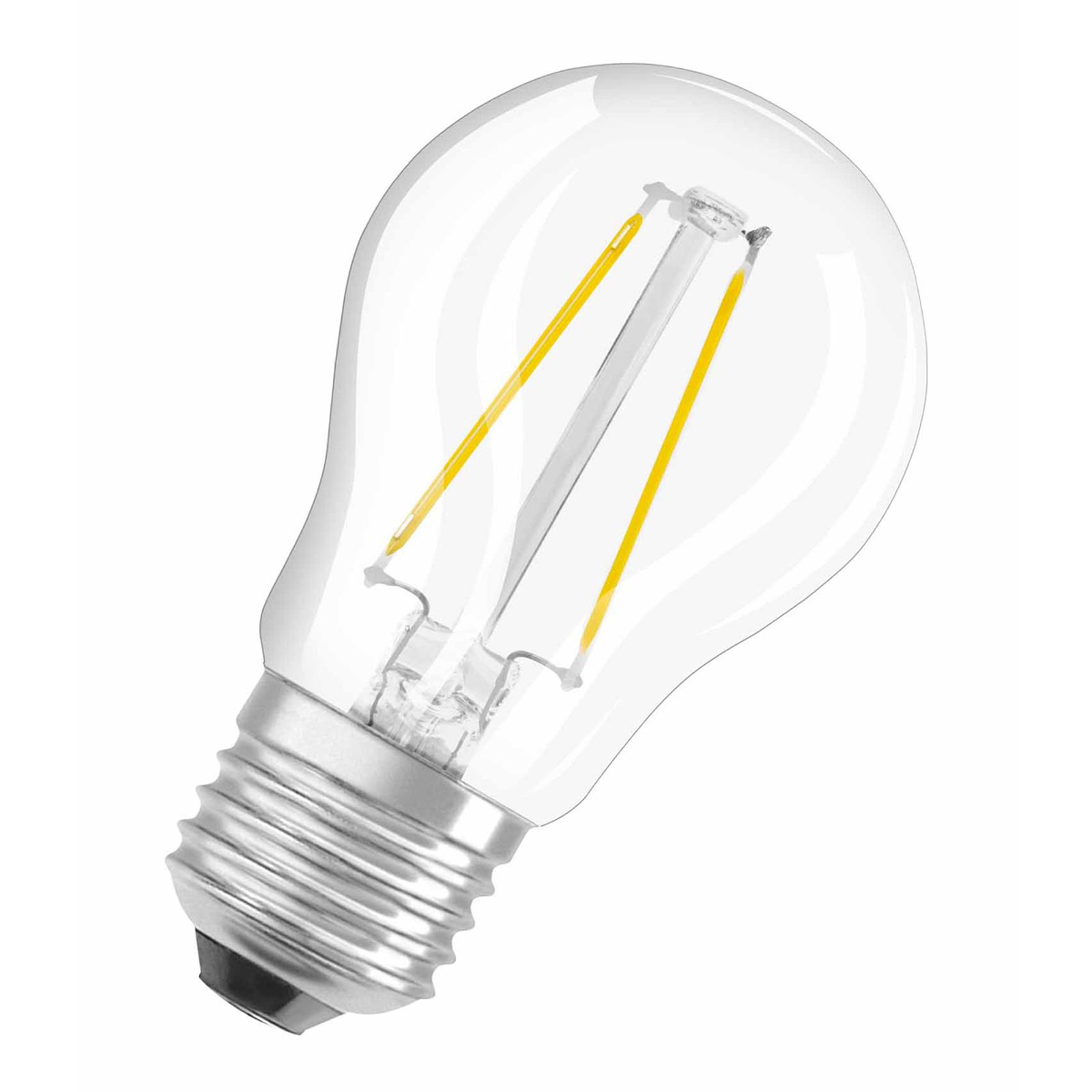 OSRAM-LED-lamppu E27 1,5W pisara, filamentti 827
