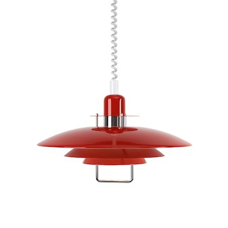Primus II Pendel bl röd 43 cm E27