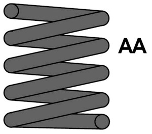 Jousi (auton jousitus), Taka-akseli, FORD KA, 1 041 537, D061-28-011B