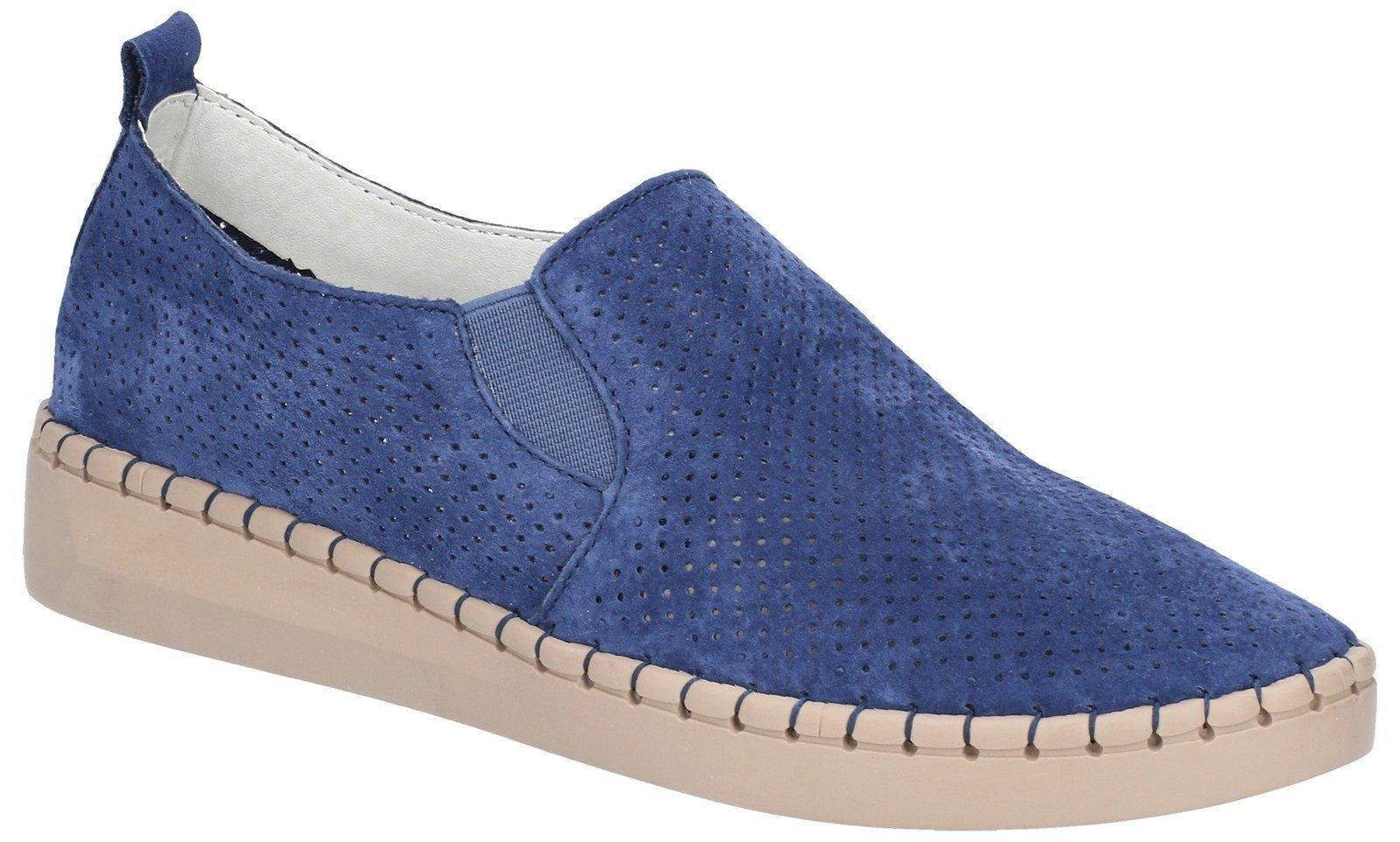 Fleet & Foster Women's Tulip Slip On Shoe Blue 28262-47470 - Navy 3