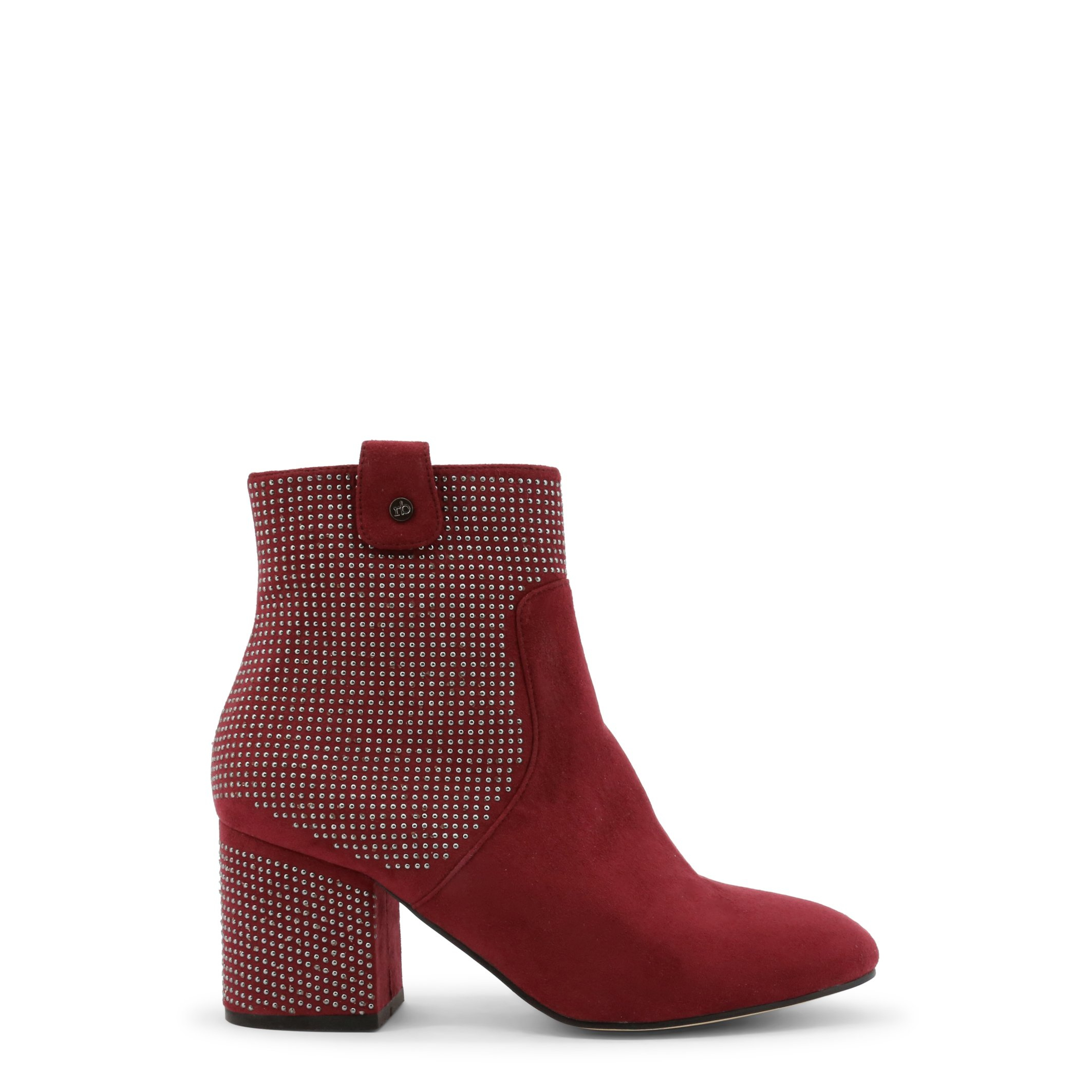 Roccobarocco Women's Ankle Boot Black RBSC1JT01STD - red EU 37