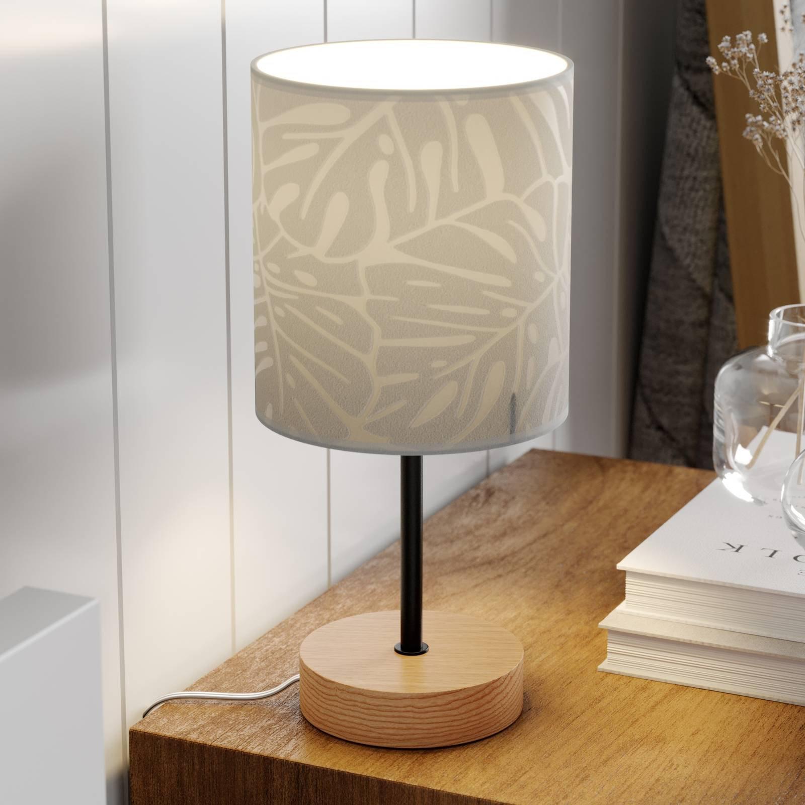 Bordlampe Hierro med trykket papirskjerm