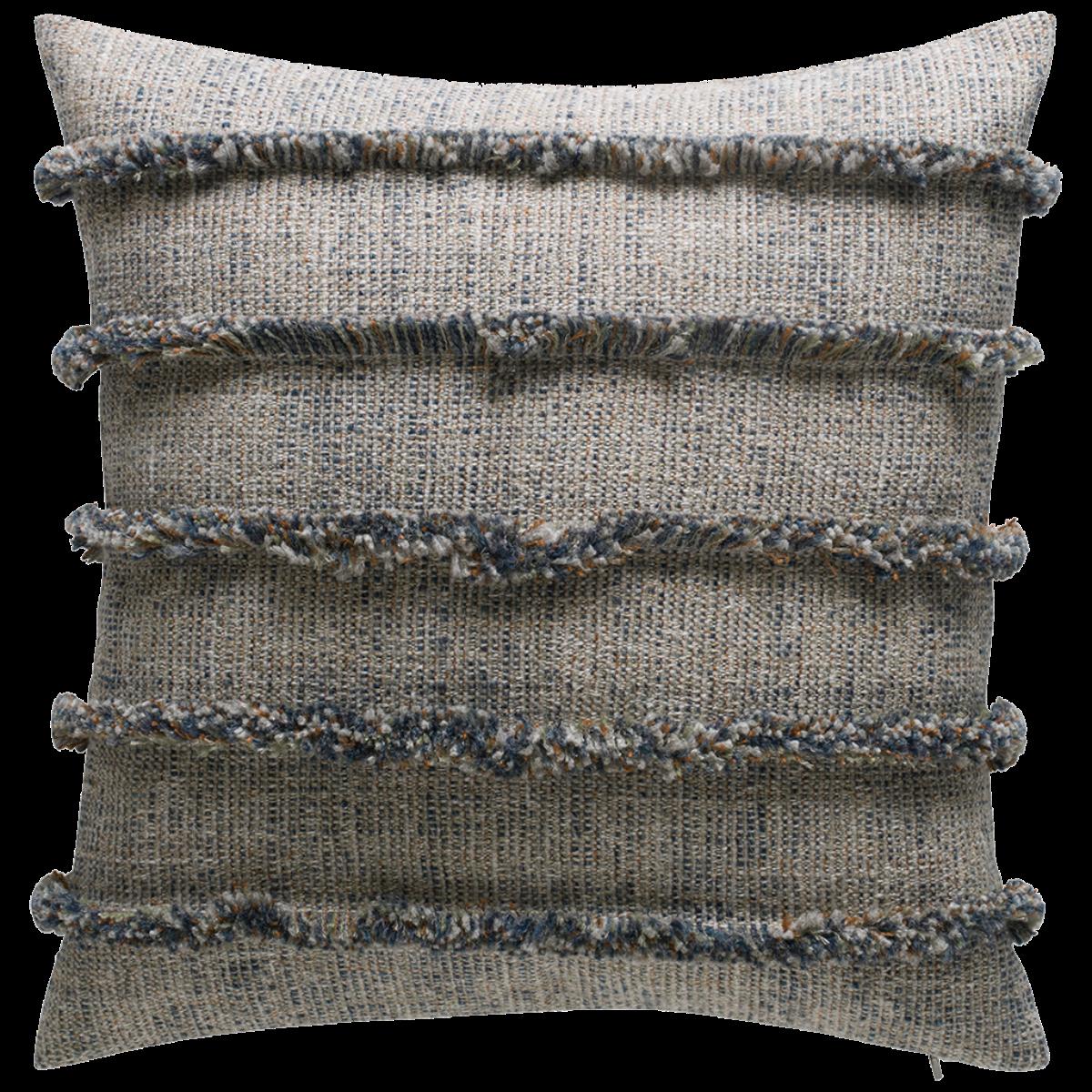 de Le Cuona | Rogue Cushion With Fringe Detail Creek