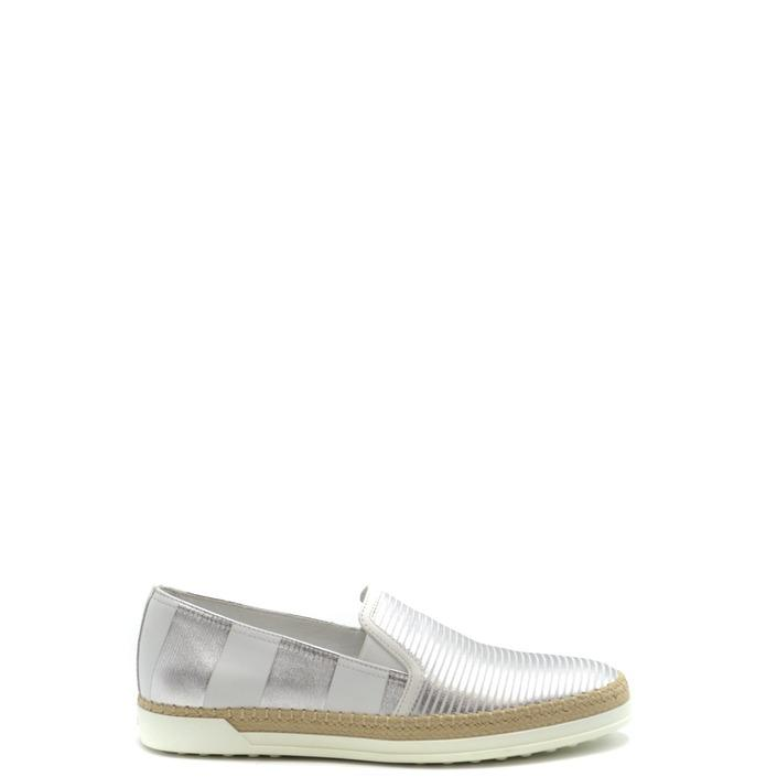 Tod`s Women's Loafer Silver 168247 - silver 36.5