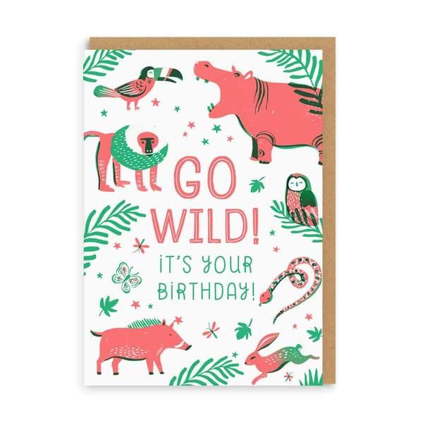 Jungle Birthday Greeting Card