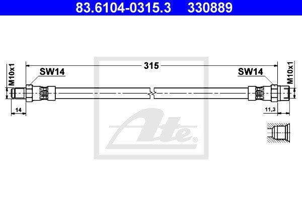 Jarruletku ATE 83.6104-0315.3