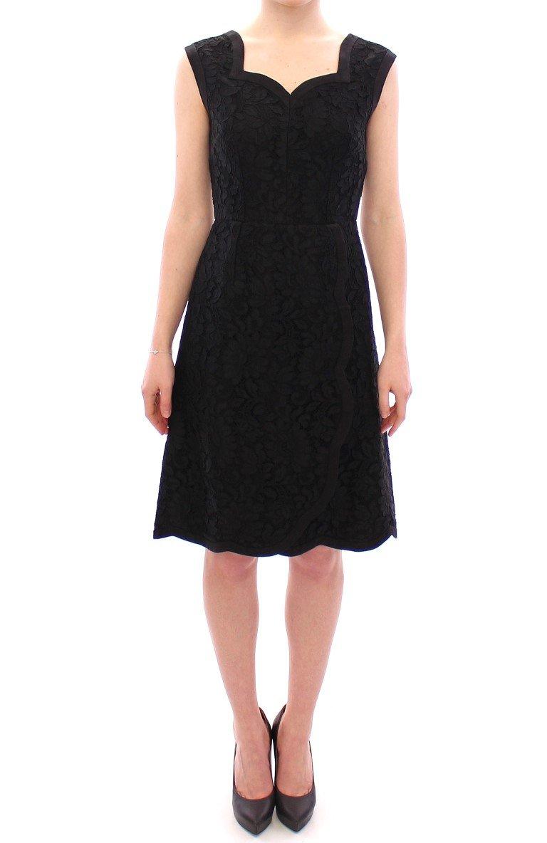 Dolce & Gabbana Women's Floral Lace Sicily Dress Black GSD12627 - IT42 M