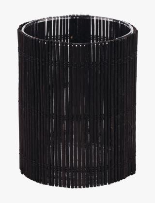 Bamboo kynttilälyhty musta