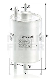 Polttoainesuodatin MANN-FILTER WK 720