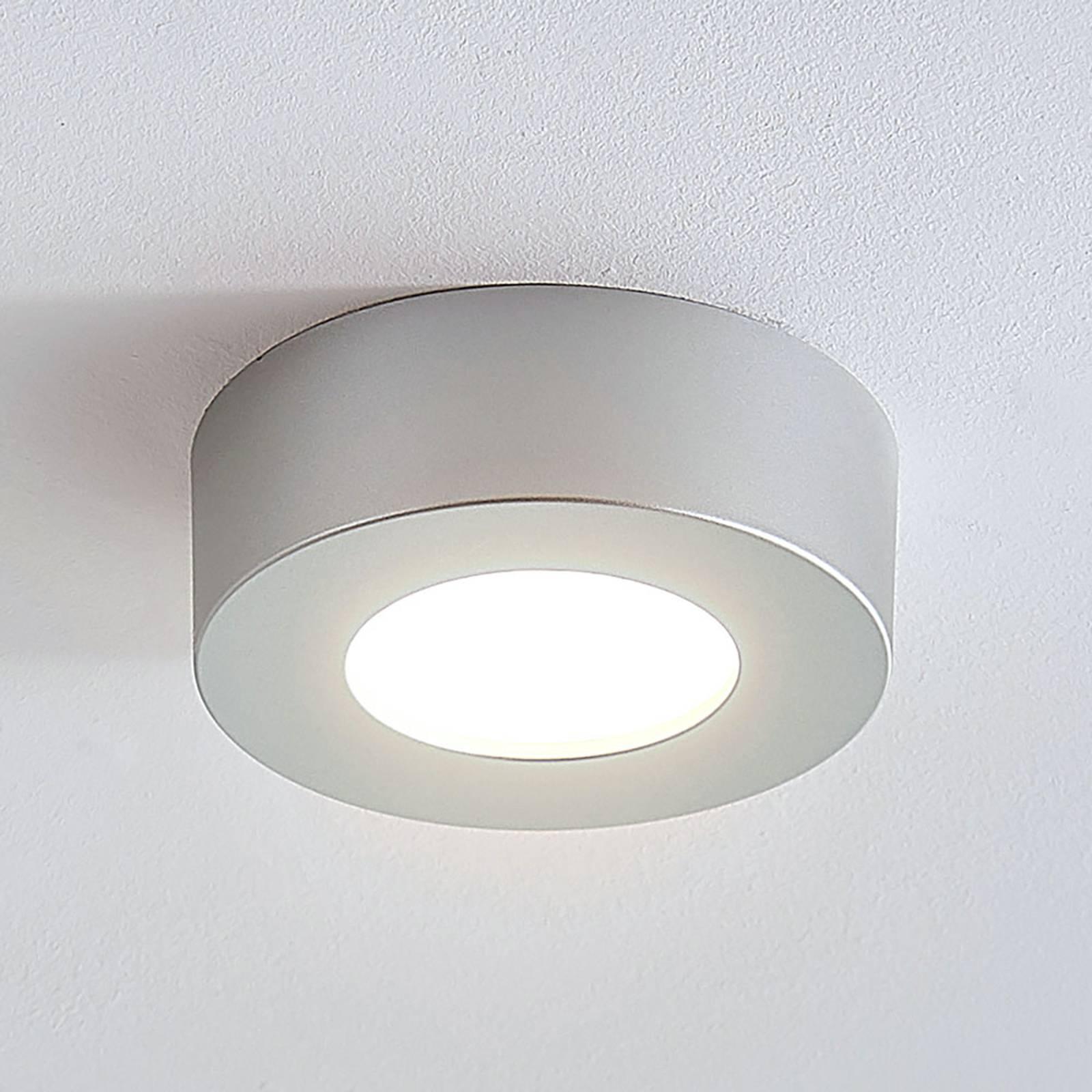 LED-kattovalo Marlo hopea 3 000 K pyöreä 12,8 cm