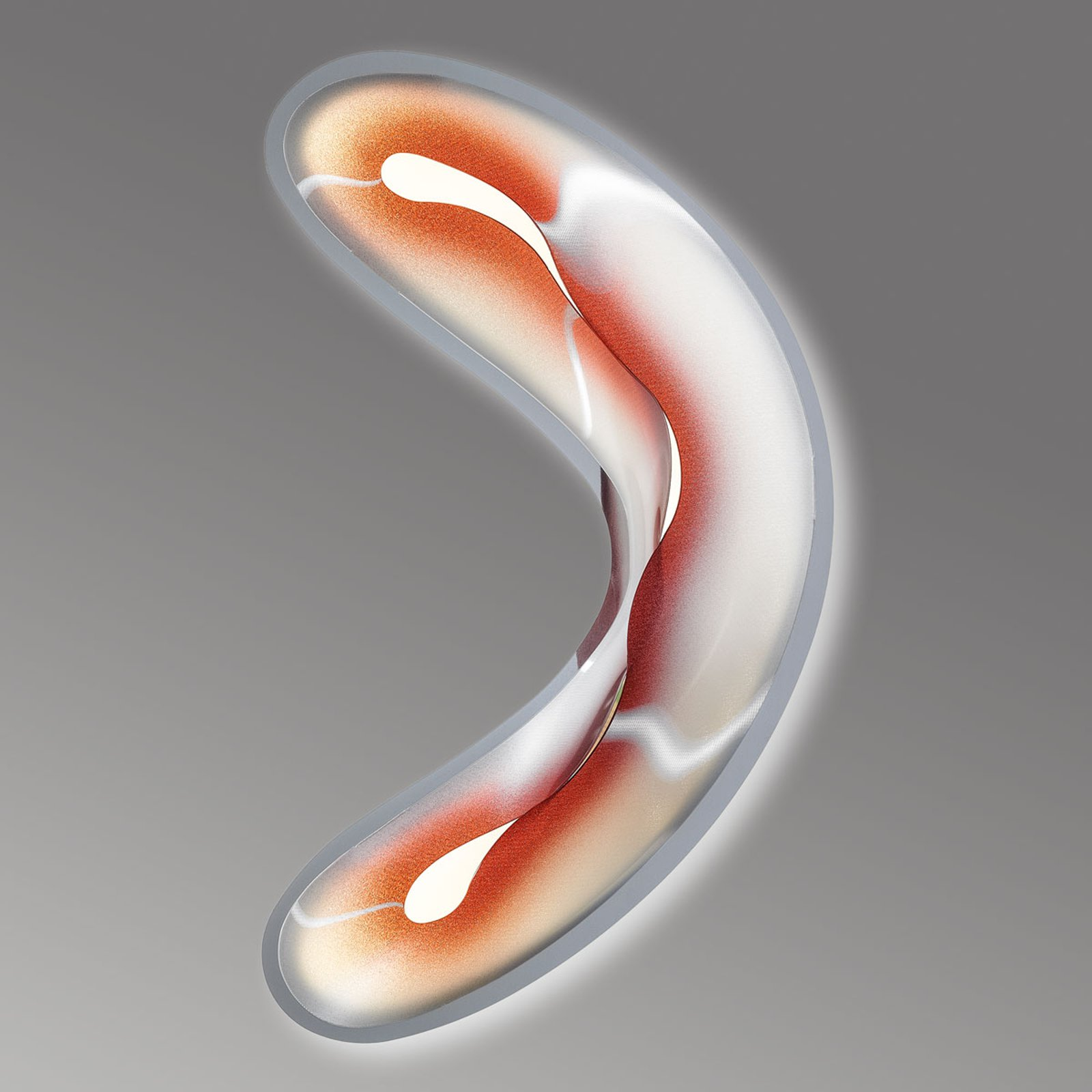 Flytende LED-vegglampe Crocco S, rød