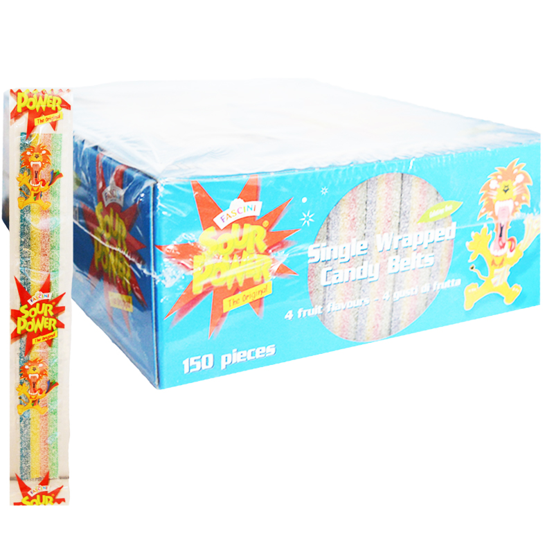 "Hel Låda Godis ""Candy Belts"" 150 x 10g - 82% rabatt"