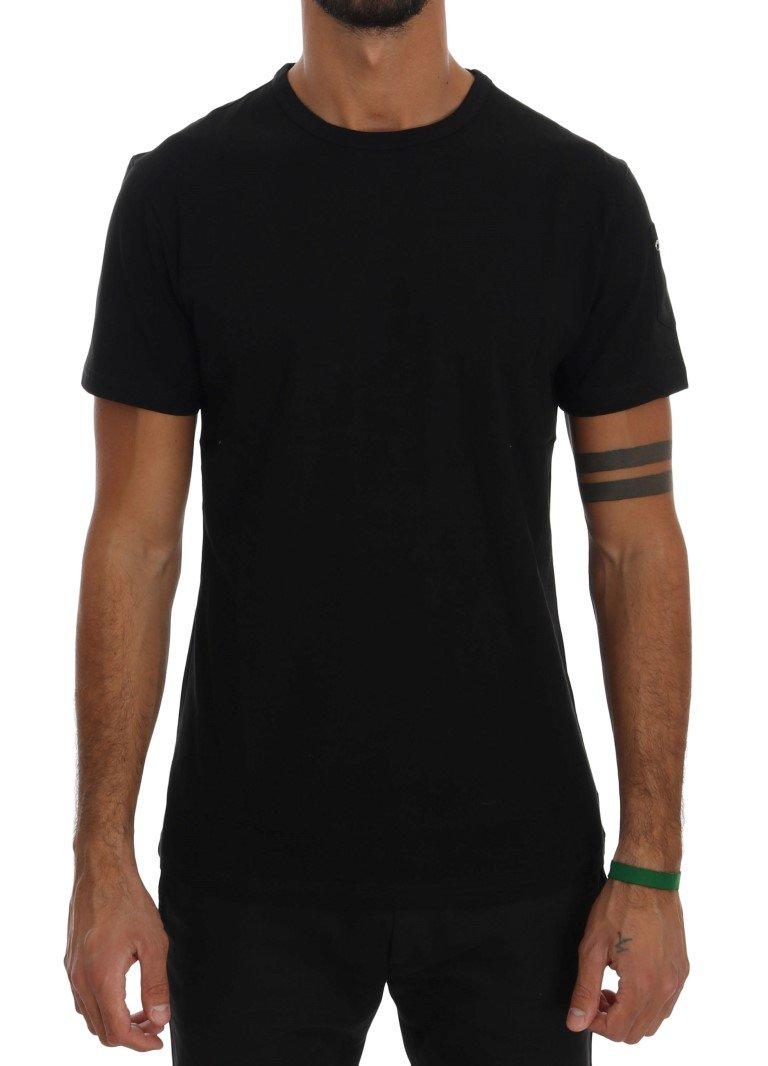 Daniele Alessandrini Men's Cotton Crewneck T-Shirt Black TSH1318 - S