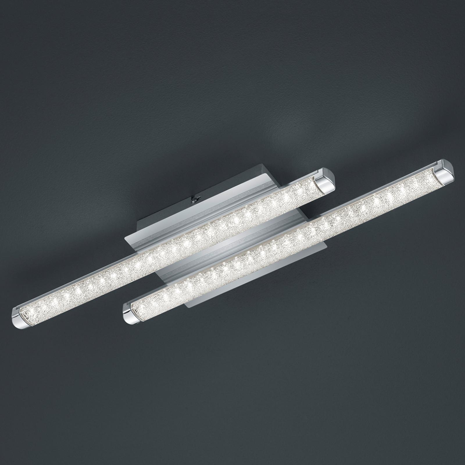 LED-kattovalaisin Street 2-lamppuinen kristallijäl