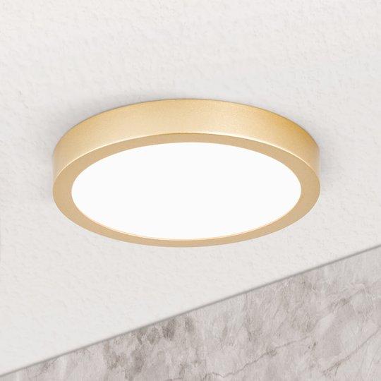 LED-kattovalaisin Vika, pyöreä, matta kulta Ø18 cm
