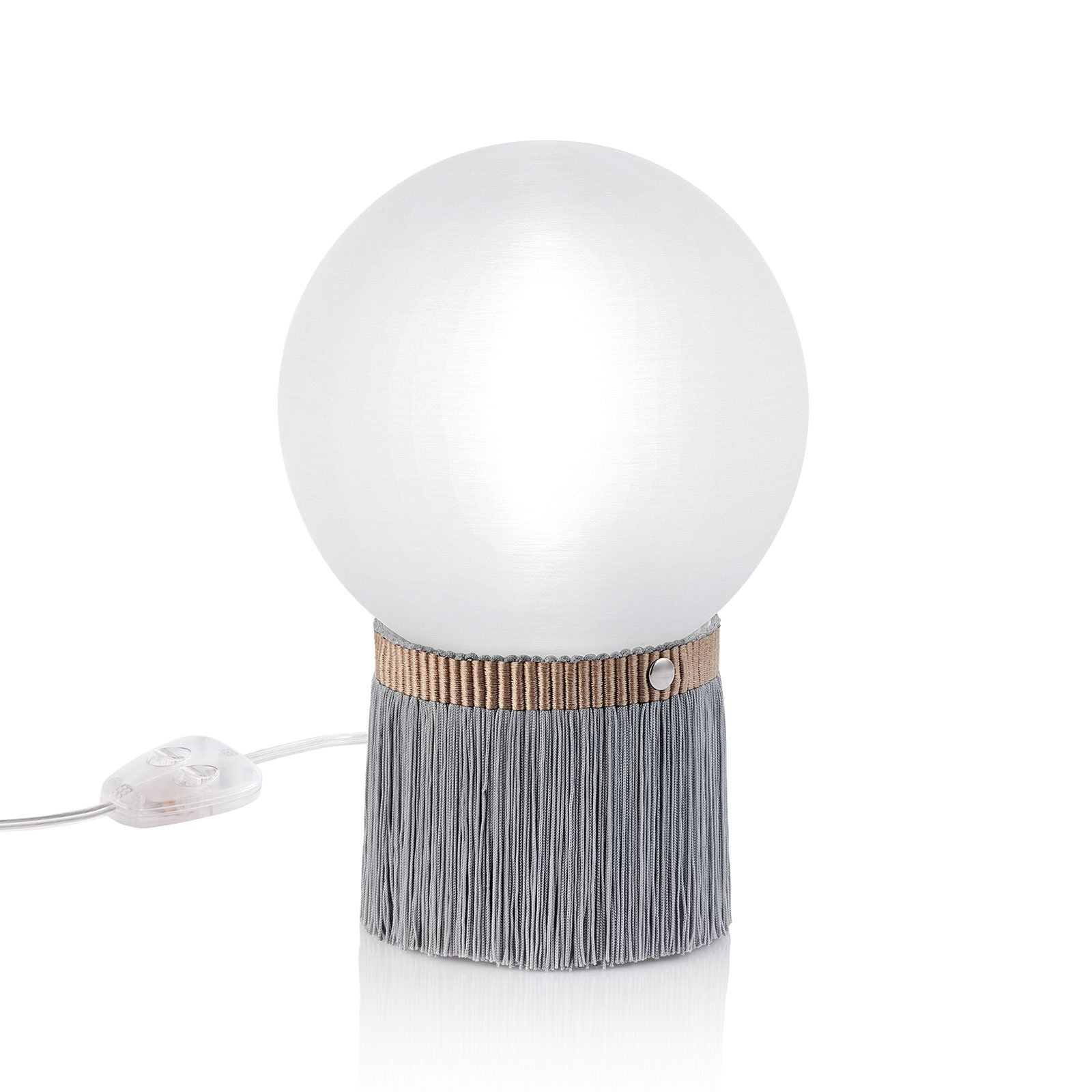 Slamp Atmosfera bordlampe Fringe 20 cm grå