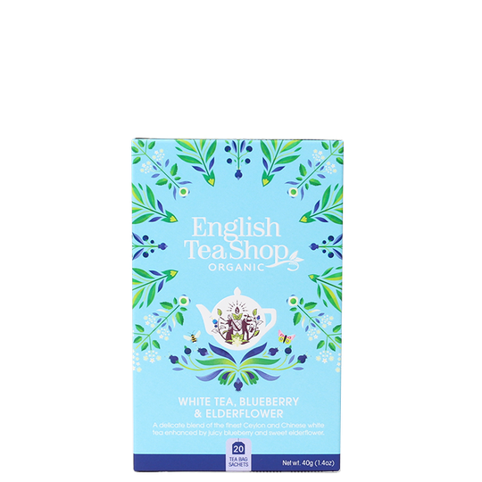 Vitt te Blåbär/Fläder EKO, 20 tepåsar