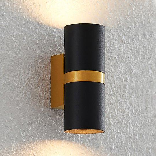 Arcchio Arsa -seinävalaisin, kaksilamppuinen musta