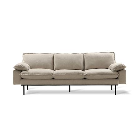 Retro Soffa 3-sits cosy Beige