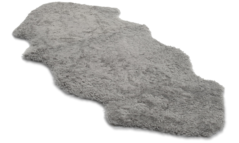 1,5 sammensydd krøllete lammeskinn - 301524 naturgrått