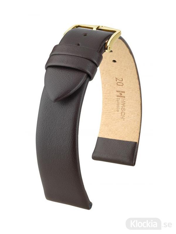Klockarmband Hirsch Toronto 18mm Extra Large Brun/Guld 03702210-1-18