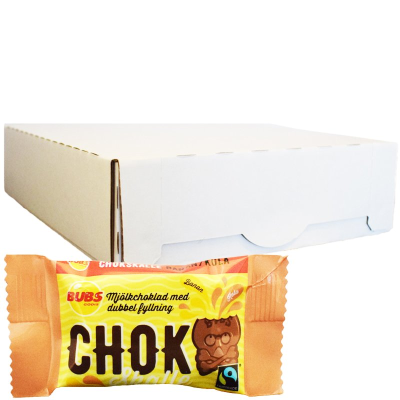 Hel Låda Mjölkchoklad Banan & Kola 40 x 17g - 34% rabatt