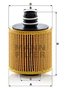 Öljynsuodatin MANN-FILTER HU 8006 z