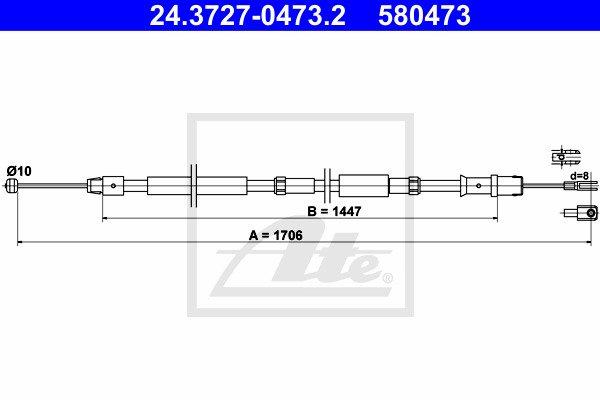 Käsijarruvaijeri ATE 24.3727-0473.2