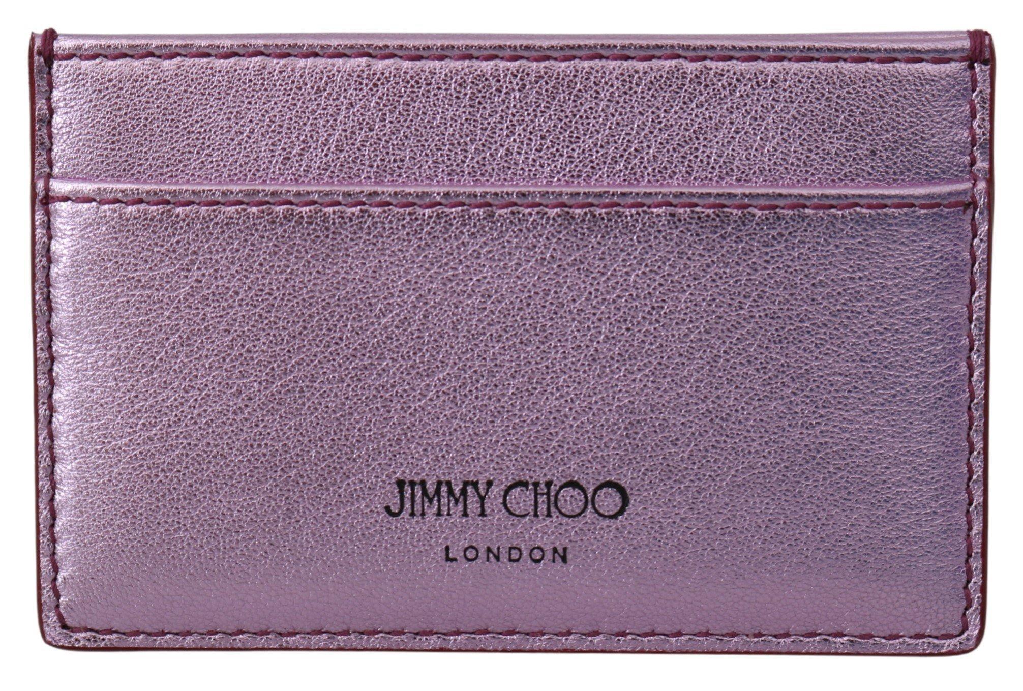 Jimmy Choo Women's Aarna Card Slot Holder Purple 1435706