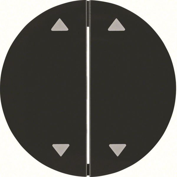 """Hager 16442045 Vipu malleihin R.1 ja R.3 Kaksiosainen vipu, musta, symboli """"nuolet"""""""